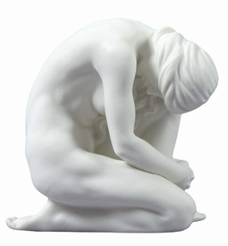 Sculpted Nude Woman Porcelain Sculpture - 30099