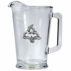 Sea Gull Birds Glass Pitcher with Pewter Accent