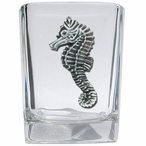 Sea Horse Pewter Accent Shot Glasses, Set of 4