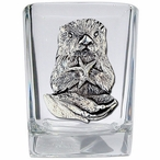 Sea Otter Pewter Accent Shot Glasses, Set of 4