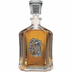 Sea Turtle Capitol Glass Decanter with Pewter Accents