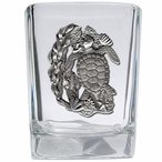 Sea Turtle Pewter Accent Shot Glasses, Set of 4
