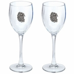 Sea Turtle Pewter Accent Wine Glass Goblets, Set of 2