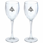 Seagull Birds Pewter Accent Wine Glass Goblets, Set of 2