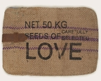 Seeds of Love Padded Burlap and Leather Padded iPad Tablet Cover Case