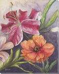 Serendipity Assorted Flowers IV Wrapped Canvas Giclee Print