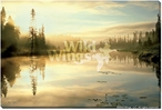 Serenity Scenic Landscape Wrapped Canvas Giclee Print Wall Art