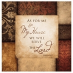 Serve the Lord Absorbent Beverage Coasters, Set of 12