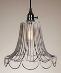 Shabby Chic Wire Pendant Lamp Light