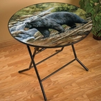 Shadow of the Forest Bear Folding Table