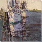 Shadows on the Sea Raven Ships Wrapped Canvas Giclee Print