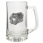 Shaman Glass Super Beer Mug with Pewter Accent