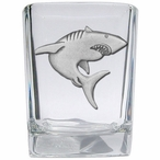Shark Pewter Accent Shot Glasses, Set of 4