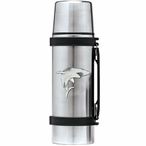 Shark Stainless Steel Thermos with Pewter Accent