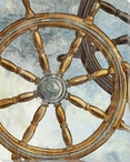 Ship Steering Wheel Wrapped Canvas Giclee Print Wall Art