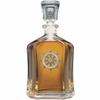 Ship Wheel Capitol Glass Decanter with Pewter Accents