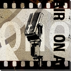 Show Time Film Reel Number 1 Wrapped Canvas Giclee Print Wall Art