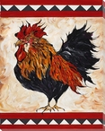 Showy Rooster Bird Wrapped Canvas Giclee Print Wall Art