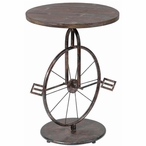 Sierra Bicycle Metal and MDF Accent Table