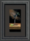 Silky Smooth Martini with Lime Float Mount Framed Art Print Wall Art
