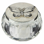 Silver Butterfly Trinket Box