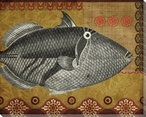 Silver Tropical Fish 3 Wrapped Canvas Giclee Print Wall Art