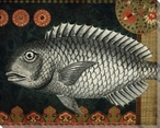 Silver Tropical Fish 4 Wrapped Canvas Giclee Print Wall Art