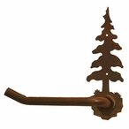 Single Pine Tree Metal Toilet Paper Holder