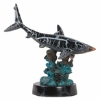 Single Shark Statue - Copper with Patina Finish