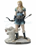 Skadi Norse Goddess of Winter, Hunt and Mountains Sculpture