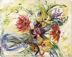 Sketch Floral Wrapped Canvas Giclee Print Wall Art