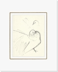 Sketch of Birds Wrapped Canvas Giclee Print Wall Art