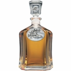 Skier Oval Capitol Glass Decanter with Pewter Accents