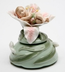 Sleeping Baby on Lily Flower Musical Music Box Sculpture