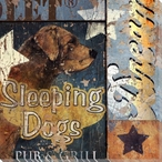 Sleeping Dogs Wrapped Canvas Giclee Print Wall Art