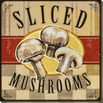 Sliced Mushrooms Wrapped Canvas Giclee Print Wall Art