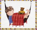 Slumber with Bear Wrapped Canvas Giclee Print Wall Art