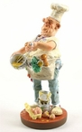 Small Chef Beating Eggs Statue