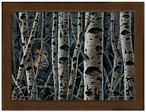 Small Inconspicuous Black Bear Framed Canvas Art Print Wall Art