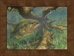 Small Tight to Cover Bass Fish Framed Canvas Art Print Wall Art