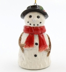 Smiling Snowman Christmas Tree Ornaments, Set of 4