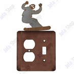 Snowboarder Double Metal Outlet Cover with Single Toggle