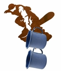 Snowboarder Metal Mug Holder Wall Rack