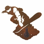 Snowboarder Metal Robe Hook