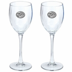 Snowboarder Pewter Accent Wine Glass Goblets, Set of 2