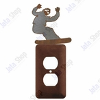 Snowboarder Single Metal Outlet Cover