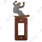 Snowboarder Single Rocker Metal Switch Plate Cover