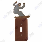 Snowboarder Single Toggle Metal Switch Plate Cover