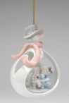 Snowman with Children Christmas Tree Ornaments, Set of 4