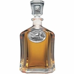 Snowmobile Capitol Glass Decanter with Pewter Accents